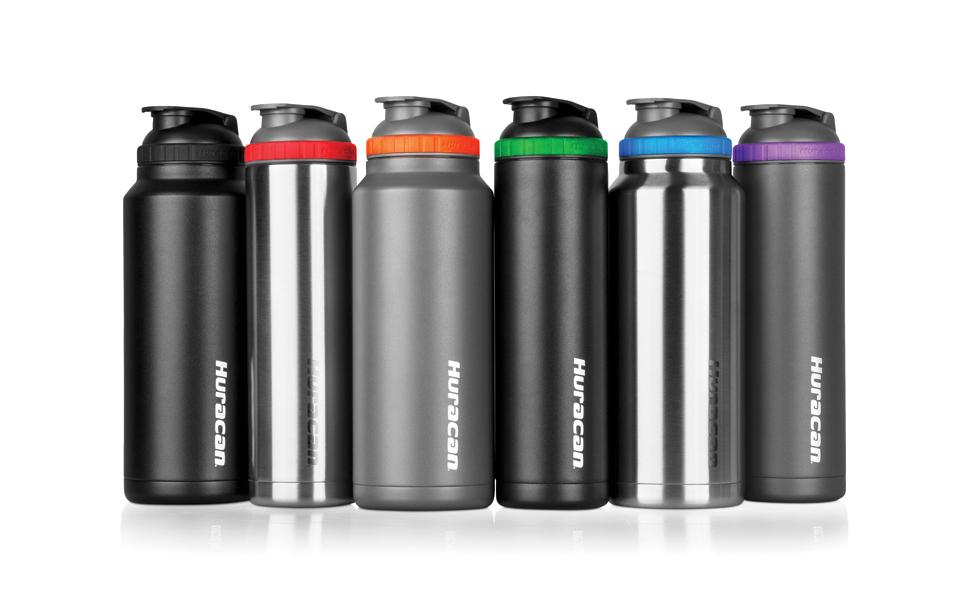 Huracan lineup of shaker bottles