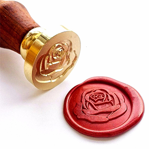 MyLifeUNIT Rose Wax Stamp Kit for Wedding