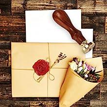 MyLifeUNIT Rose Wax Seal Stamp Kit for Wedding