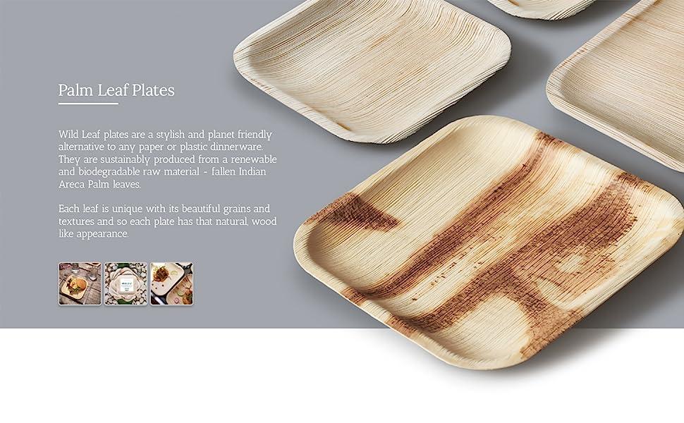 bamboo plates, bamboo plates disposable, palm leaf plates, wood plates, wooden plates, palm plates