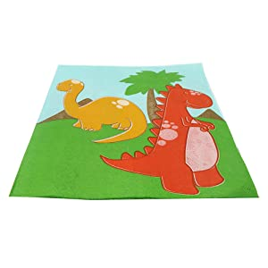 little dinosaur lunch napkins