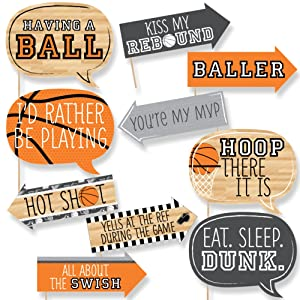 Nothin' But Net - Basketball Photo Booth Props