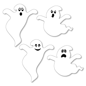 Spooky Ghost Halloween Party Shaped Cut Outs