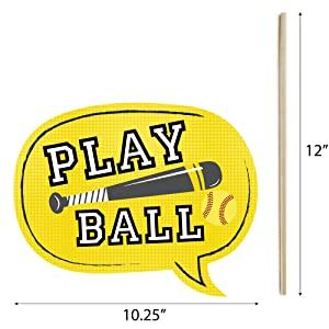 Grand Slam Fastpitch Softball Photo Booth Prop Talk Bubble