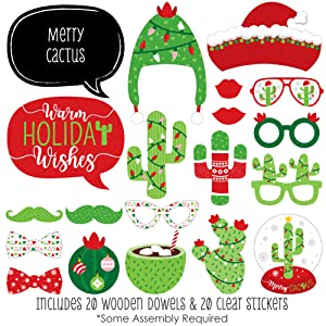 Merry Cactus Photo Booth Props