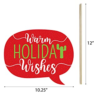 Warm Holiday Wishes Talk Bubble Prop