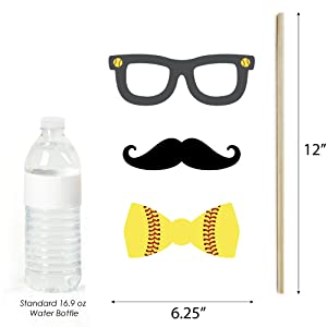 Grand Slam Fastpitch Softball Photo Booth Prop Dimensions