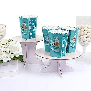 Arctic Polar Animals Winter Birthday Bday Party Baby Shower Popcorn Boxes