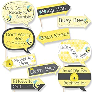 Honey Bee Photo Booth Props