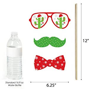 Cactus Christmas Photo Prop Dimensions