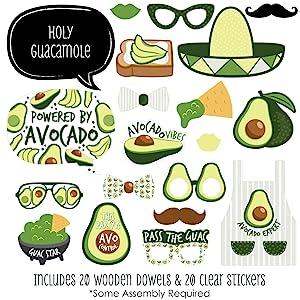 Hello Avocado - Fiesta Party Photo Booth Props Kit