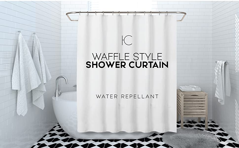 waffle, style, shower, curtain, water, repellent