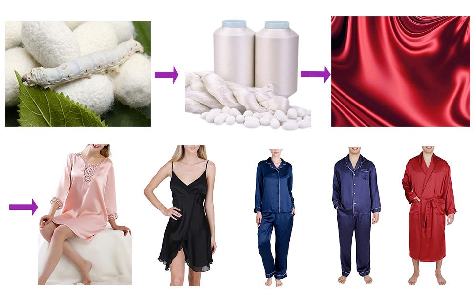 OSCAR ROSSA silk sleepwear silk pajamas silk slip silk robe silk pant silk boxer silk lingerie dress