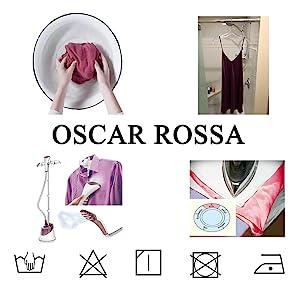 OSCAR ROSSA silk washing instructions