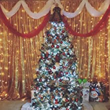 Christmas decorations of sequin backdrop