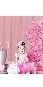 Pink sequin backdrop