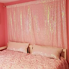 Home decorations of sequin backdrop
