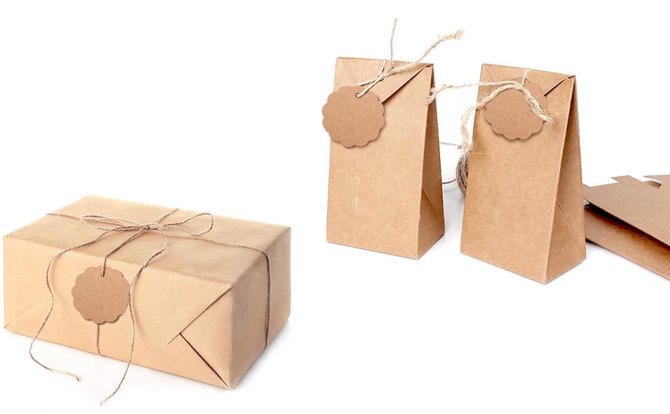 paper gift tags with string