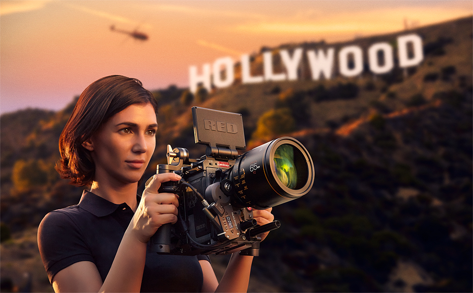Nucleus M Wireless Follow Focus with RED Camera Hollywood sign