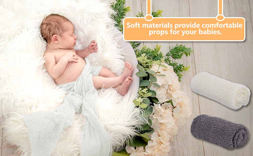 Soft materials provide comfortable props for your babies.
