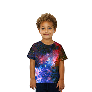 kids boys and girls all over print shirts