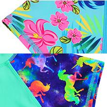colorful print swimwear