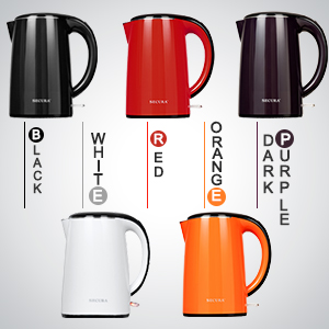 5 colors electric kettle