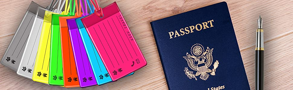 luggage tags travel holder card id name identity baggage bagpack bag suitcase colorful silicone gel