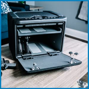 Large interior capacity to easily secure your valuables such as firearms, jewelry, cash, etc.