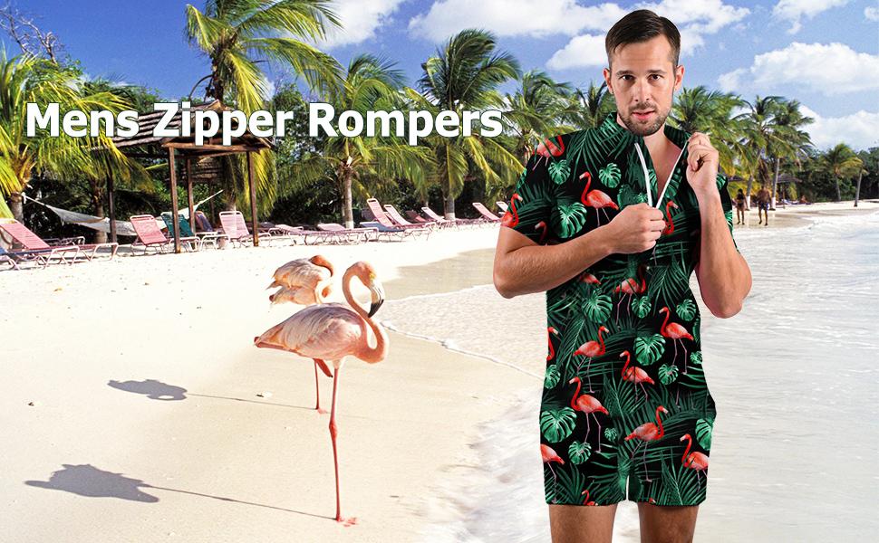 flamingo men rompers