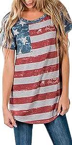 Women's July 4th American Flag Shirt