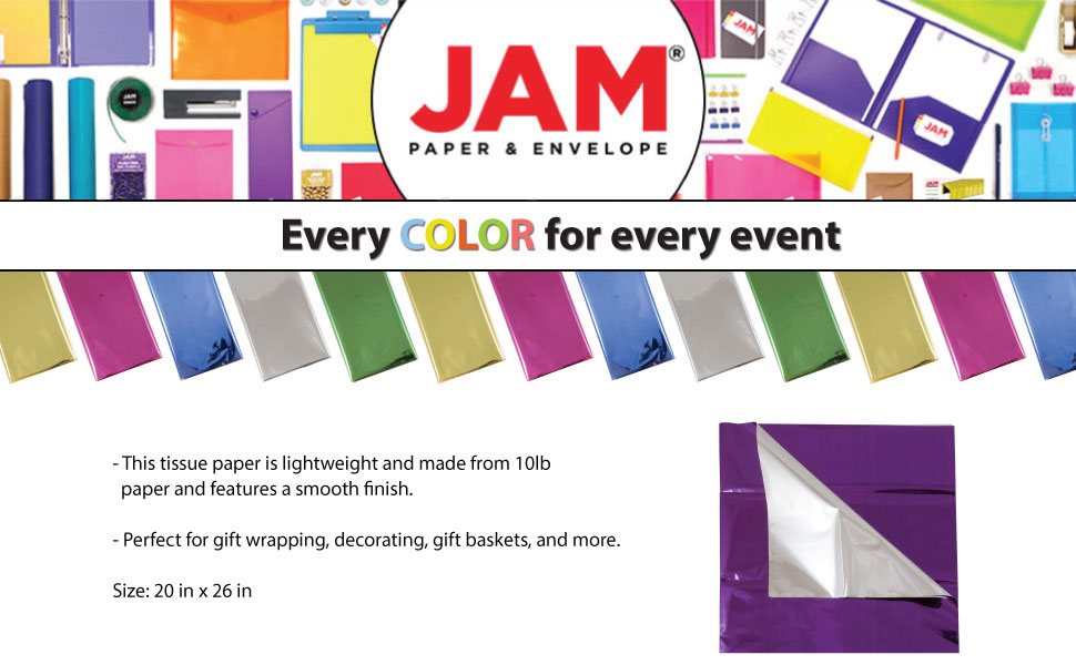 JAM Paper Mylar Wrapping Paper