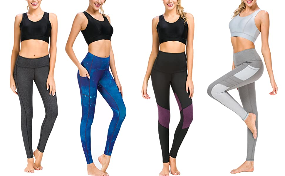athletic tights leggings yoga pants workout leggings with pocket