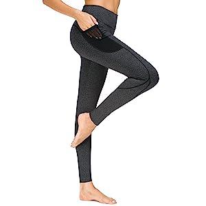 mesh yoga pants running cycling pants with pocket