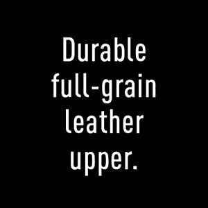 Durable full-grain leather upper