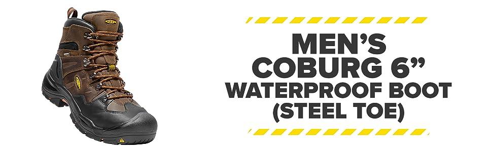 Men's Coburg 6 Inch Steel Toe Waterproof Work Boot