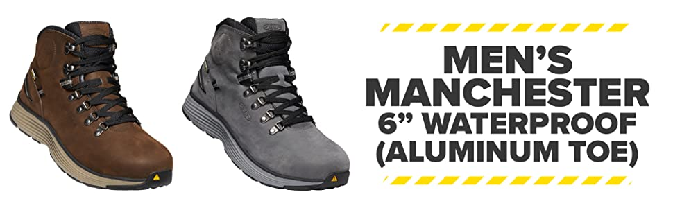 Men's Manchester 6 Inch Waterproof Aluminum Toe