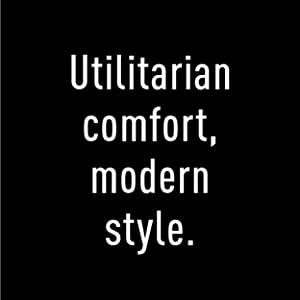 Utilitarian comfort, modern style