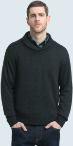 wool shawl collar pullover