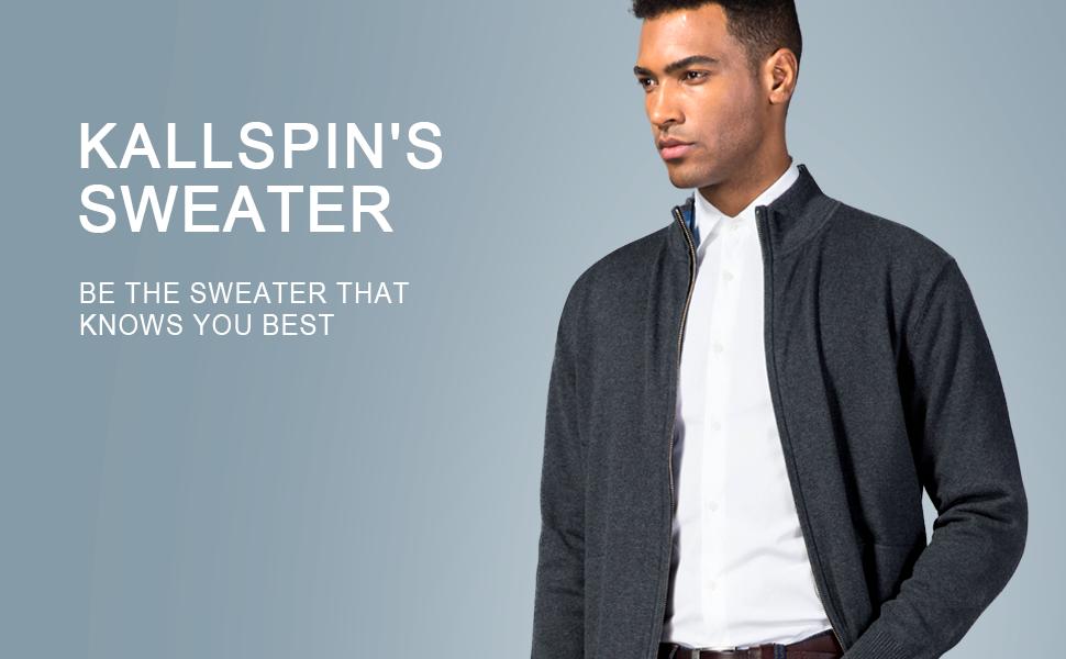 kallspin full zip sweater
