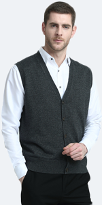 cardigan vest with buttons