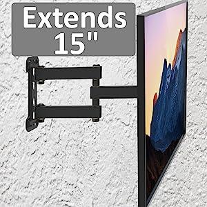 extending arm tv wall mount bracket