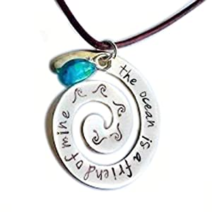 the ocean is a friend of mine necklace