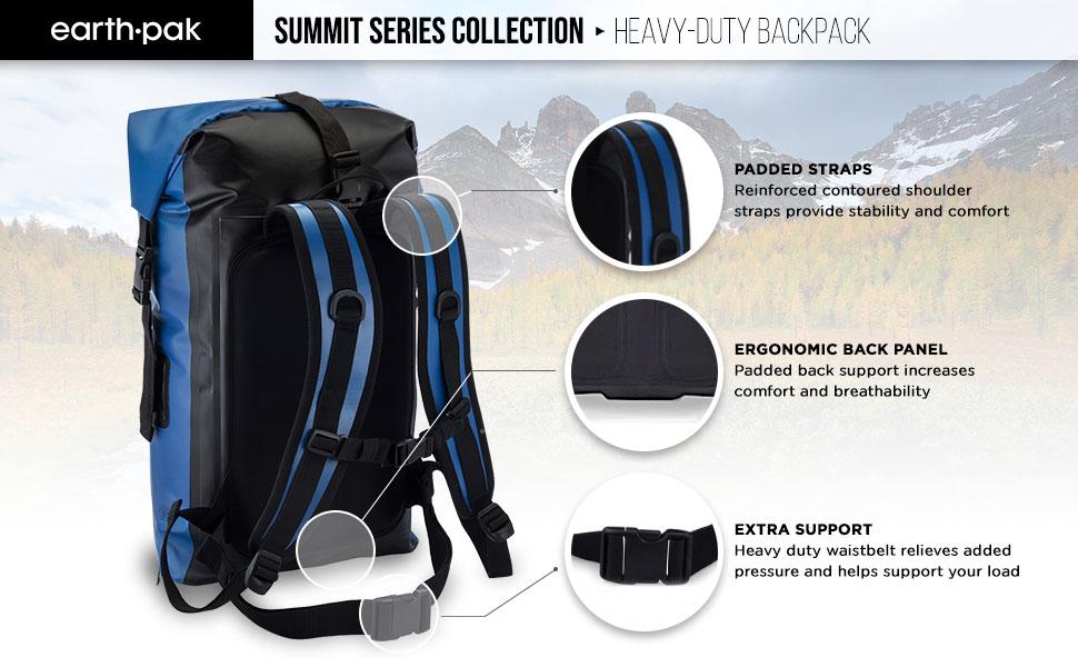 waterproof backpack, earth pak, dry bags
