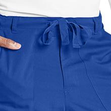 Drawstring waist close-up on Barco Grey's Anatomy 0203 Men's Cargo Scrub Pant