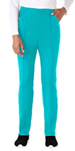 White Swan Fundamentals 14782 Women's Scrub Pant Tapered Medical Healthcare Uniforms Fashion