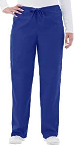White Swan Fundamentals 14920 Unisex Scrub Pant Drawstring Medical Healthcare Uniforms Fashion