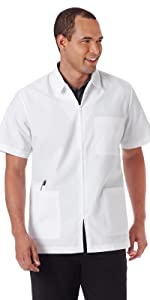 White Swan Meta 6125 Men's Lab Coat Shirt Medical Healthcare Uniforms Fashion