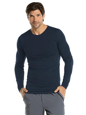 Male model wearing Barco One 0305 Men's Seamless Scrub Tee