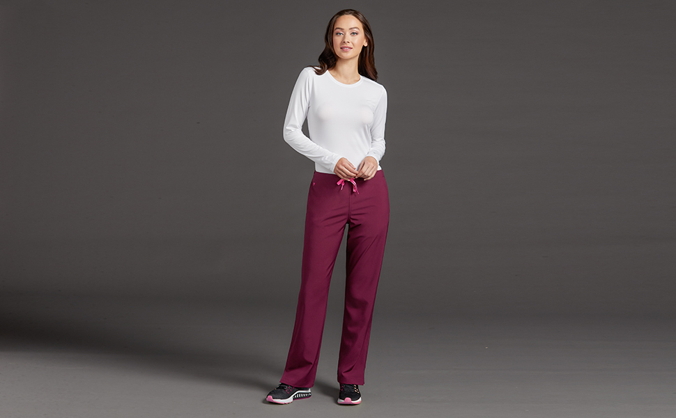 Med Couture Energy 8718 Women's Scrub Pant 3-Pocket Medical Healthcare Uniforms Fashion